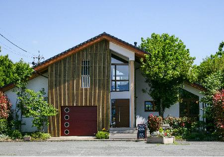 長野市大豆島ヴァルト常設展示場:外観写真 北面玄関側