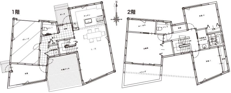 ヴァルト川中島の家:図面