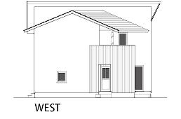ヴァルト川中島の家:西向き